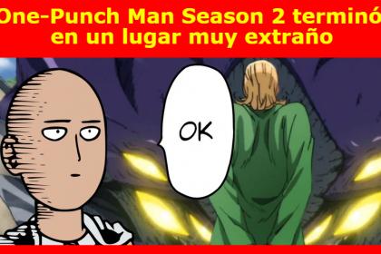 One-Punch Man Season 2 terminó en un lugar muy extraño