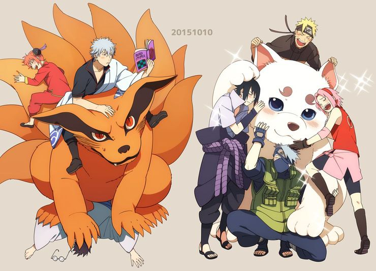 Sadaharu, Kyuubi. Memes de fan art Naruto