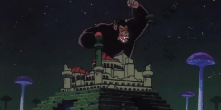 Dragon Ball: las 15 mejores transformaciones. GOKU SE CONVIERTE EN UN GRAN SIMIO0 POR PRIMERA VEZ